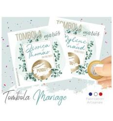 tombola des mariés eucalyptus animation mariage carte à gratter