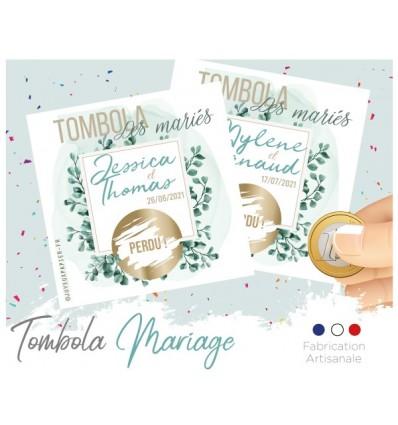 tombola des mariés animation carte à gratter