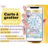 carte a gratter digitale personnalisable