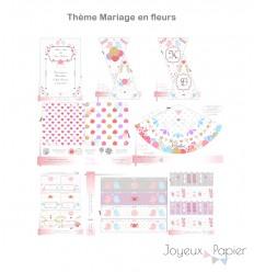 Mariage en fleurs kit décoration de fête