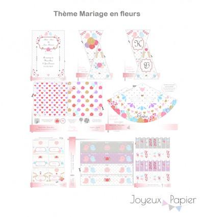 decoration mariage a imprimer