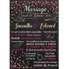 Confetti doré Affiche mariage