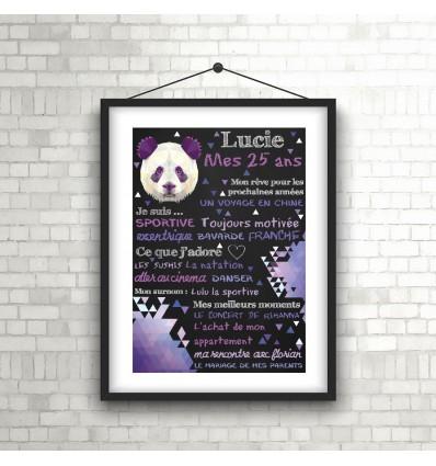 Panda Affiche Anniversaire