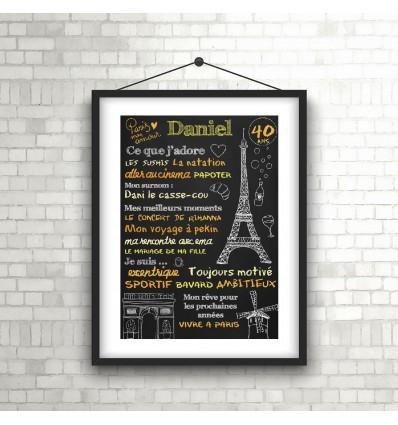 Paris Affiche Anniversaire