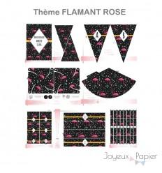 Flamant Rose kit décoration de fête