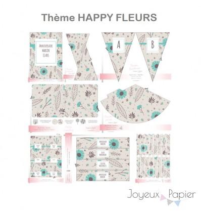 Happy Fleurs kit décoration de fête