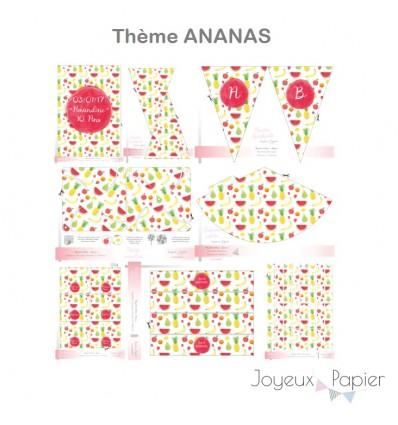 Ananas kit décoration de fête