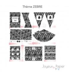 Zebre kit décoration de fête