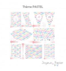 Pastel kit décoration de fête