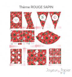 Rouge Sapin kit décoration de fête