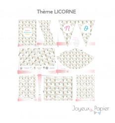 Licorne kit décoration de fête