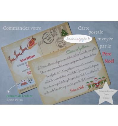 Carte postale personnalisée du père noël
