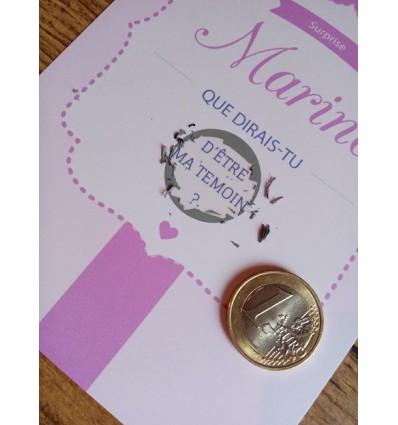 Carte à gratter demande témoin mariage