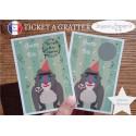 Ticket mini carte à gratter annonce grossesse modèle cerf de noël tu vas être tonton
