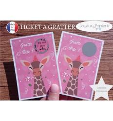 Ticket mini carte à gratter annonce grossesse tu vas être tata