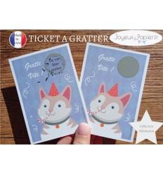 Ticket mini carte à gratter annonce grossesse tu vas être mamy