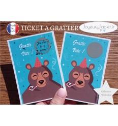 Ticket mini carte à gratter annonce grossesse tu vas être papy