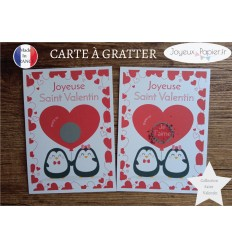 Carte postale à gratter déclaration amour