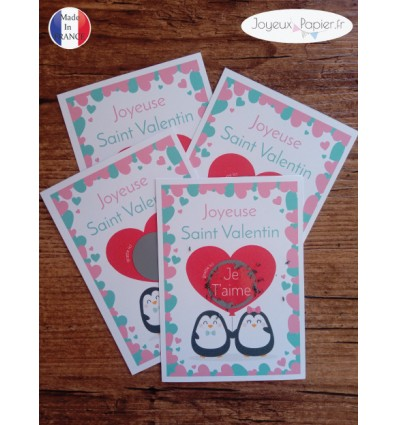carte à gratter je t'aime saint valentin