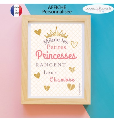 affiche d co chambre fille m me les princesses rangent leur chambre. Black Bedroom Furniture Sets. Home Design Ideas
