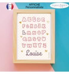 Affiche alphabet personnalisé pénom enfant