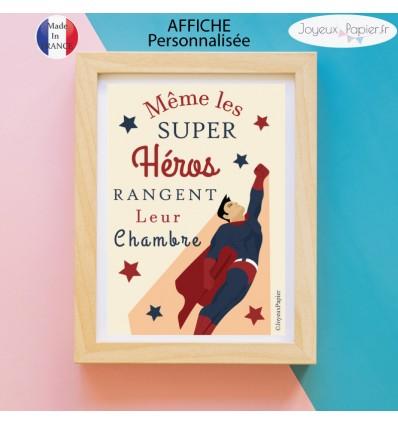 Affiche même les super héros rangent leur chambre