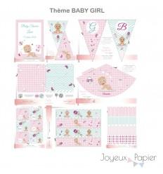 Baby Girl kit décoration de fête