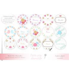 Mariage en fleurs kit à cupcake