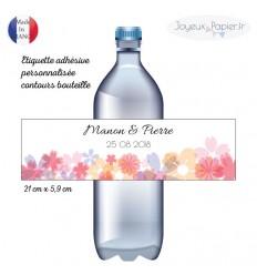 6 Etiquettes adhésives personnalisées contours de bouteille