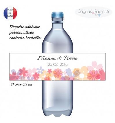 étiquettes contours de bouteille mariage