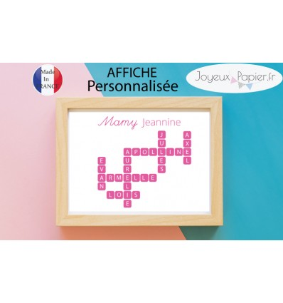 Affiche scrabble grands parents petits enfants