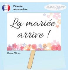 Pancarte personnalisée La mariée arrive!