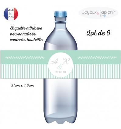 Etiquettes bouteille mariage laurier