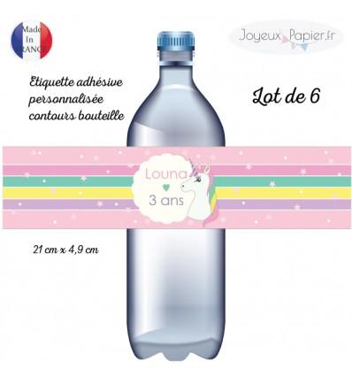 etiquette bouteille licorne anniversaire