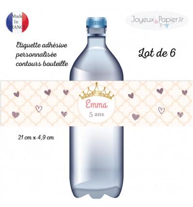 Etiquette bouteille princesse