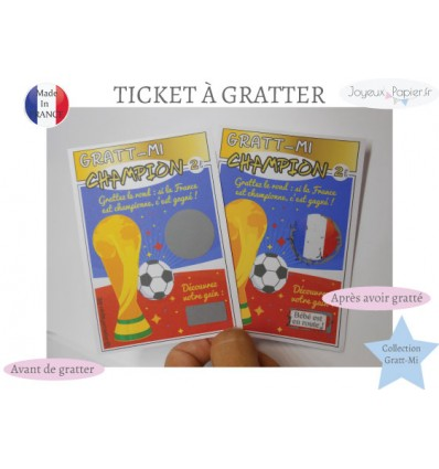 Ticket à gratter grossesse champion coupe monde