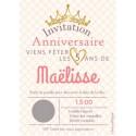 Carte a gratter anniversaire princesse